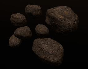 3D asset realtime Asteroids
