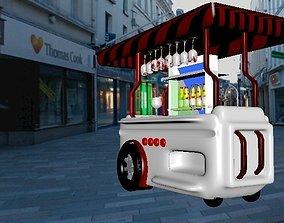 Drink Cart -colorful 3D model