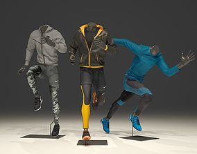 Man mannequin Nike pack 3 3D model