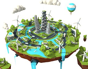 3D asset The city of the future Ext