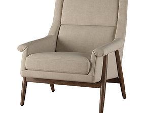 RH Milo Baughman Chair 3D