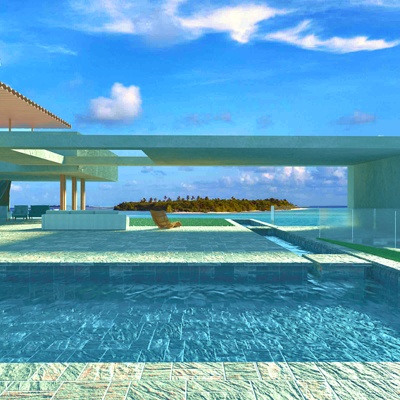 house by the sea on the beach