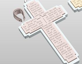 cross 3D print model CROSS pendant MULTI COLOR