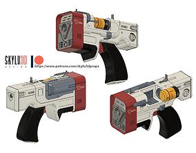 Institute Laser Pistol 3D Printing STL
