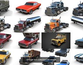 3D Vintage cars collection
