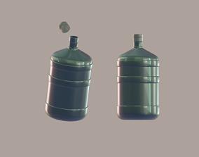 Water bottle 3D asset rigged