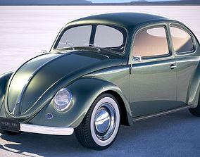 Vokswagen Beetle 1950 3D model