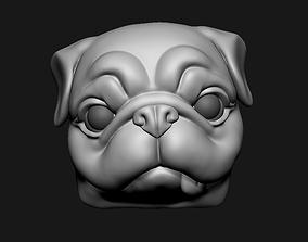 3D print model Pug Head Keycap