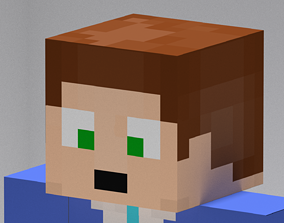 body Minecraft Character 3D