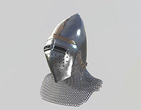 3D model Medieval Bascinet04 Longface visor