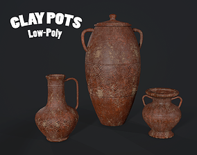 CLAY POT Game Ready Low Poly 3D asset