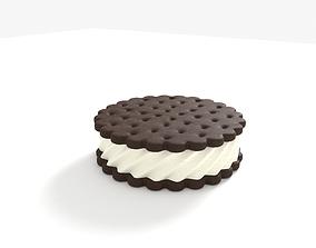 3D Ice Cream Sandwich Cookies Round