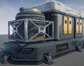 game-ready Sci-Fi Facility 01 - game model
