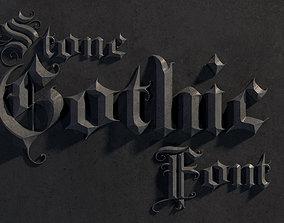 3D model Elegant medieval gothic letter A-Z