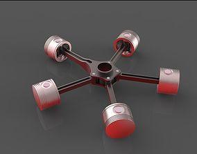 3D model Radial Engine