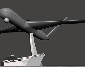 Avenger Drone Model with 6 stands