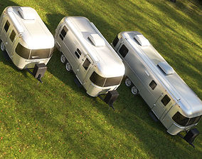 3D model Airstream trailers collection