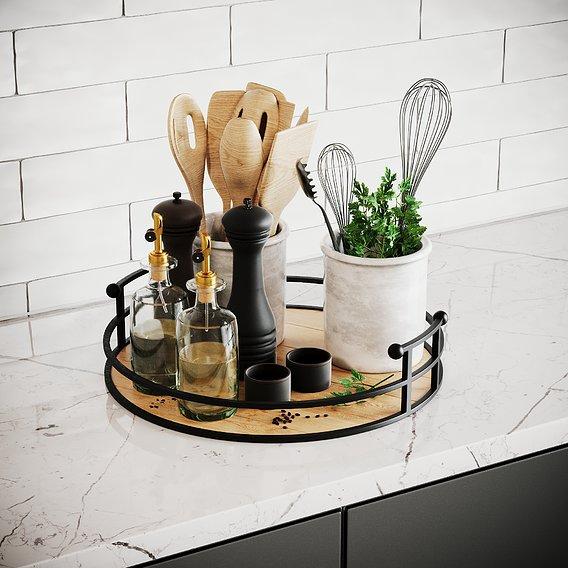 Kitchen Accessories SCENE Corona 3D model