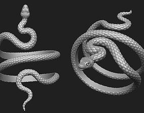 3D print model Snake Bracelet Thick Version