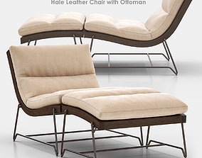 3D model Hale Leather Chair with Ottoman