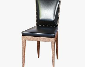 3D model art deco dining chair