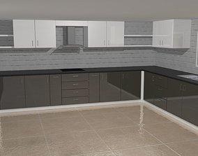 VR / AR ready 3D Kitchen model set