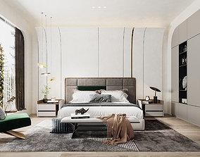locking 3D Modern bedroom