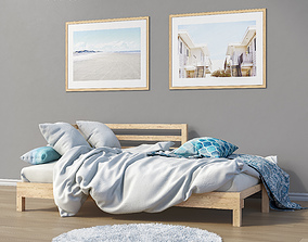 Set of furniture and decor for the bedroom 2 3D