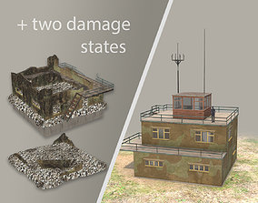 3D model Airport ControlRoom 01 with Damage