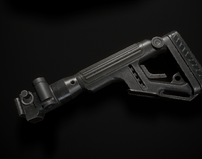 Butt of the rifle AK 3D asset