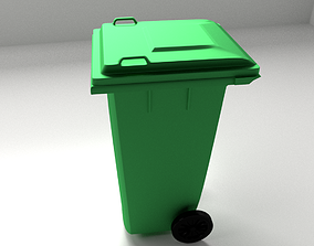 Outdoor Garbage Can 3D model