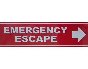 Emergency Escape Poster 3D asset