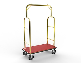 baggage Hotel Trolley 01 3D model