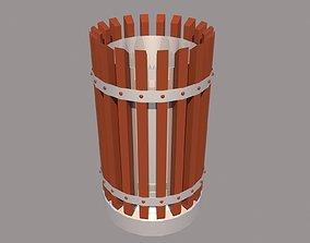 Trashcan 3D asset VR / AR ready