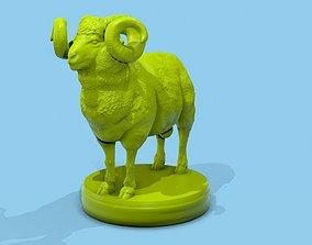 Printable 3D Ram model with platform