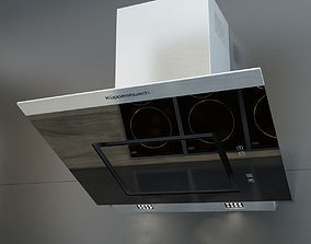 Kuppersbusch KD7610 Black Kitchen Hood 3D model