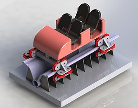 3D model Roller coastor car