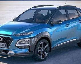 korean Hyundai Kona 2018 3D