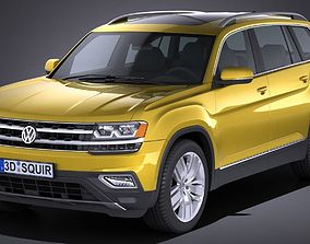 3D Volkswagen Atlas 2018