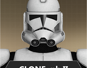 Clone trooper phase II 3D model