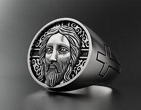 Ring with Jesus 3D print model