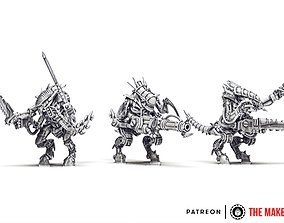 3D print model Iron Hive - Warriors set 1