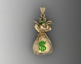 Money Bag pendant 3D print model