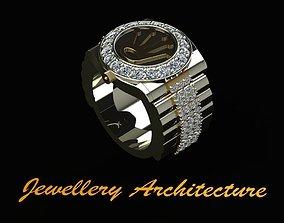 3D print model Rolex Style Mens Ring