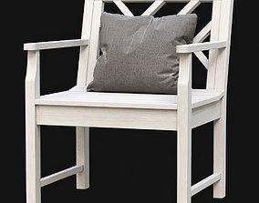 Chippendale Garden Armchair 3D asset low-poly