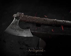 Viking Era Axe 3D asset