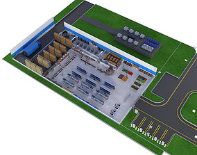 3D model SuperMarket Store - Characters Included - 3