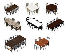 Revit Dining Table Collections 3D asset