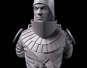 stl 3D print model Medieval Bust