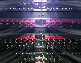 3D model Internet servers close up scene vray ready